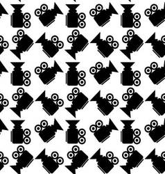 Seamless pattern video camera vector image vector image