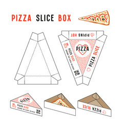 stock design of box for pizza slice vector image vector image