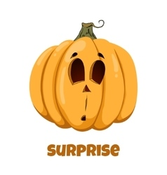Pumpkin for halloween emotions surprise vector