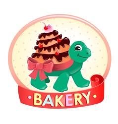 Turtle Cake logo vector image
