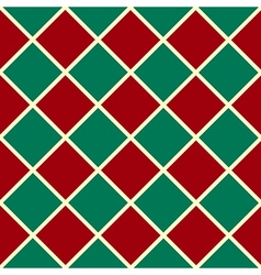 Green Red Grid Chess Board Diamond Background vector image