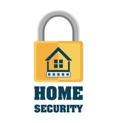 Home security padlock privacy protection vector