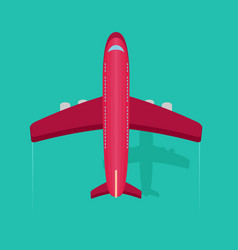 Plane or airplane in the sky in flat style vector