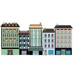 Stylized ancient houses vector