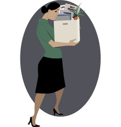 Woman lost her job vector