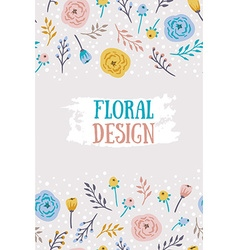 Vintage seamless background with field flowers and vector