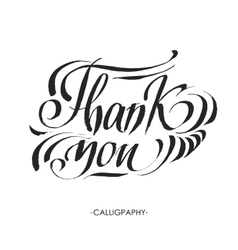 Thank you handwritten  dark vector
