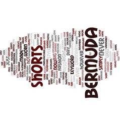 Bermuda travels text background word cloud concept vector