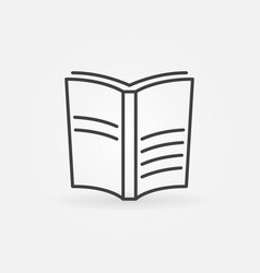 book outline icon vector image vector image
