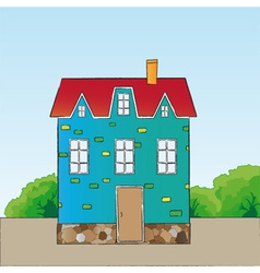 Cartoon style house vector image