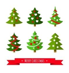 Christmas tree set vector