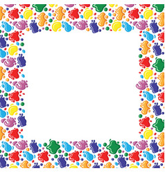 color frame of paints drops and blots vector image vector image