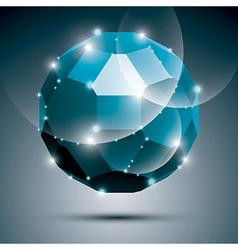 Dimensional blue sparkling disco ball abstract vector image vector image