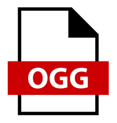 File name extension ogg type vector