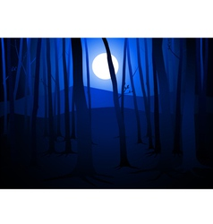 Full Moon Amongst Trees vector image vector image