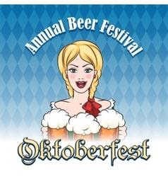 German beer festival emblem vector