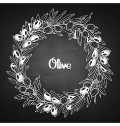 Graphic olive wreath vector image