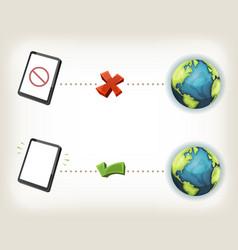Internet connexion icons vector
