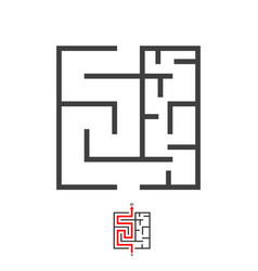 Maze labyrinth game puzzle with solution vector