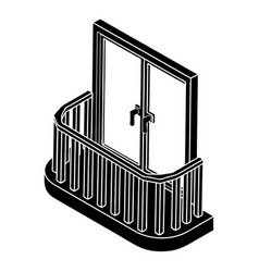modern balcony icon simple style vector image
