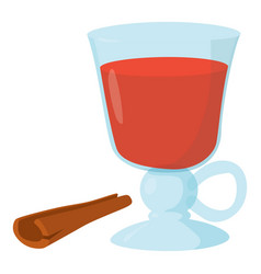 Mulled wine icon cartoon style vector