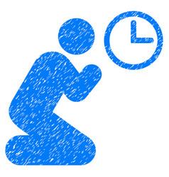 pray time grunge icon vector image