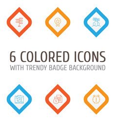Project icons set collection of discussion vector