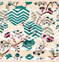Seamless nature pattern background with vector