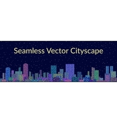 Seamless night city landscape vector