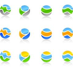 Set of nature symbols vector