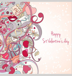 St valentine s day invitation card vector