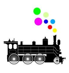 Steam lokomotive vector image