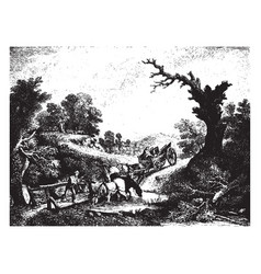 The brook is a painting by thomas gainsborough vector