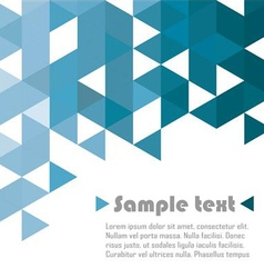 Triangle abstract blue vector image vector image