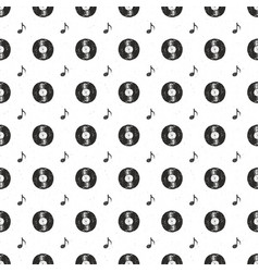 Vinyl record vintage seamless pattern hand drawn vector