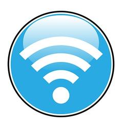 Wi fi icon button vector