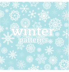 Winter patterns snowflake blue background i vector