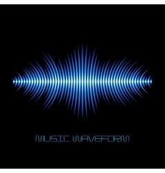 Blue sound waveform with sharp edges vector