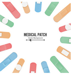 Medical patch  first aid band plaster strip vector