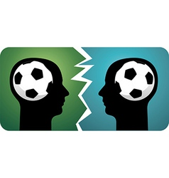 Soccer brains vector