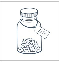 Bottle with pills isolated on white vector