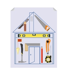 Carpenters tool kit project vector