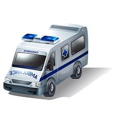 An emergency ambulance vector