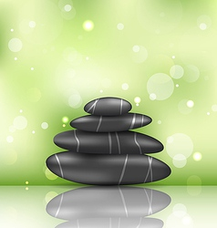Zen spa background with pyramid stones vector