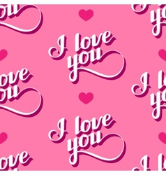 Seamless pattern of handwritten i love you vector