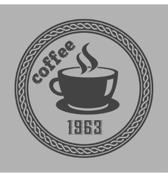 Vintage coffee themed monochrome labels vector