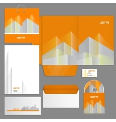 Gray corporate identity template vector