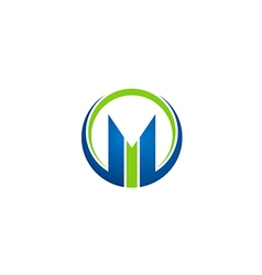 M letter business finance logo vector