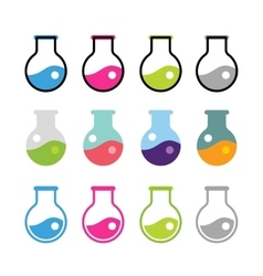 Laboratory equipment icons set vector