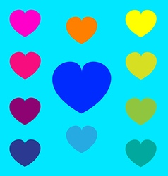 Color heart symbol on background vector
